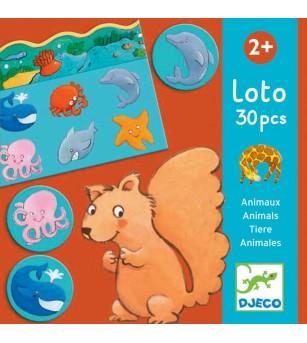 Loto cu animale Djeco - Jocuri de memorie și asociere