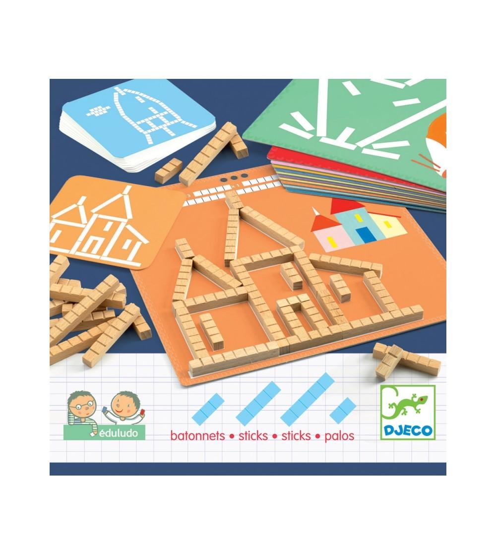 Eduludo Sticks - Jucării de lemn si Montessori