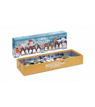 Puzzle progresiv 1,2,3..10 pinguini Londji - Puzzle-uri