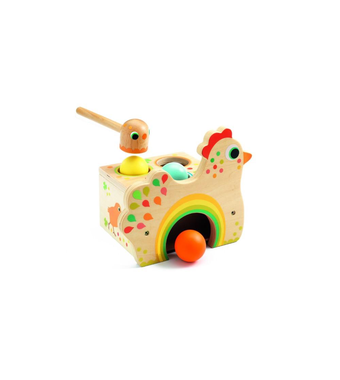 Gaina cu oua Tapatou Djeco - Jucării de lemn si Montessori