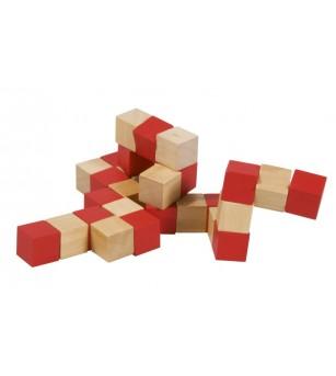 Cub sarpe rosu - Jucării logică
