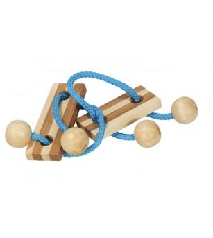 Joc logic IQ elibereaza inelul in cutie metalica-5 - Jucării logică