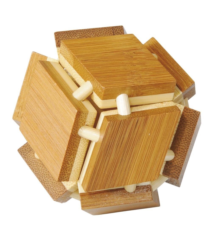 Joc logic IQ din lemn bambus 3D Magic box - Jucării logică