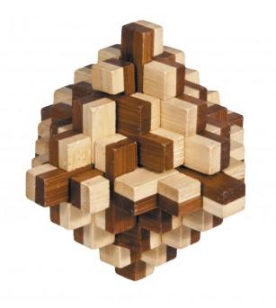 Joc logic IQ din lemn bambus 3D Iceberg - Jucării logică
