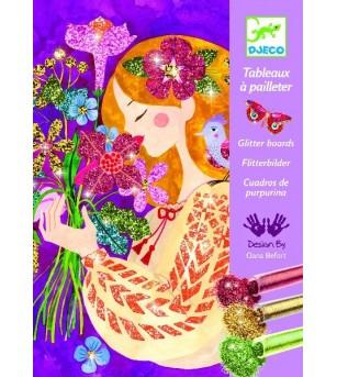 Atelier creativ cu sclipici, Parfumul florilor - Lucru manual