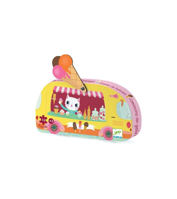 Puzzle Djeco - Masina de inghetata - Puzzle-uri