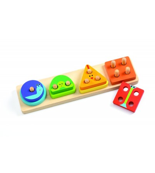 Jucarie motorica Djeco, 1234Basic - Jucării de lemn si Montessori
