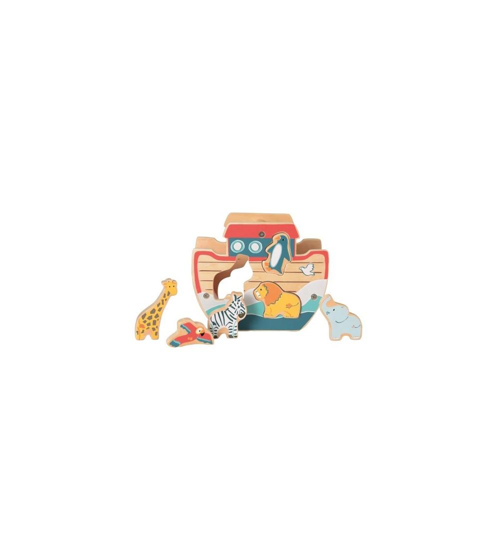 Arca lui Noe, cutia formelor Egmont - Jucării de lemn si Montessori