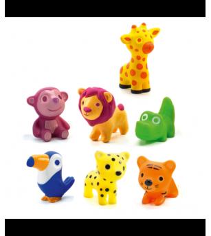 Animalute din silicon Djeco, Troopo savana - Jucării bebeluși