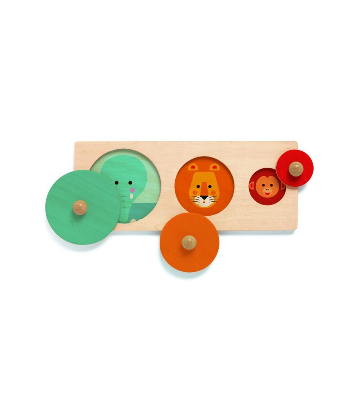 BigaBasic Djeco, puzzle forme geometrice - Jucării de lemn si Montessori