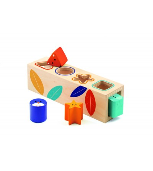Boita Basic Djeco, cutia formelor - Jucării de lemn si Montessori