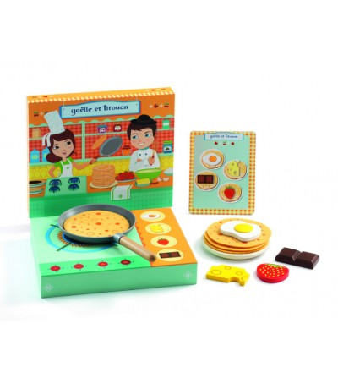 Gaelle si Titouan, Set de facut clatite Djeco - Jucării de lemn si Montessori