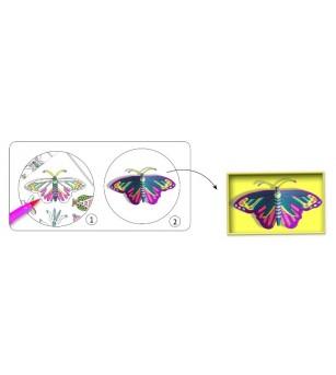 Cabinet de curiozitati Djeco, Fluturi - Desen și pictură