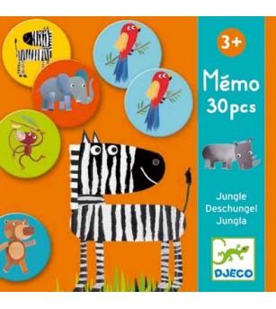 Joc memorie Djeco animale din jungla - Jocuri de memorie și asociere