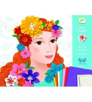 Atelier Djeco colaj flori - Lucru manual