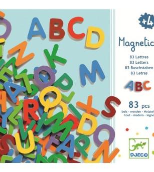 83 Litere magnetice pentru copii- Djeco - Jucării limbaj