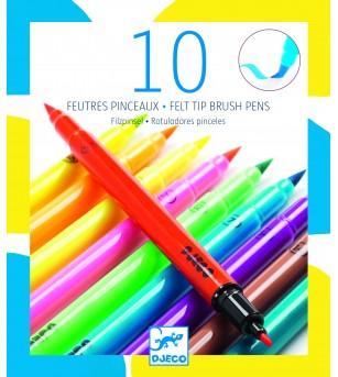 Carioci pensula Djeco, culori pop - Desen și pictură