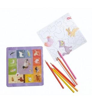 Set de desen cu piese magnetice, Animale - Desen și pictură