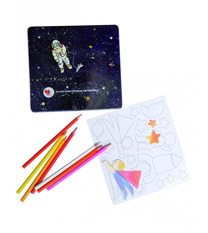 Set de desen cu piese magnetice, Astronaut - Desen și pictură