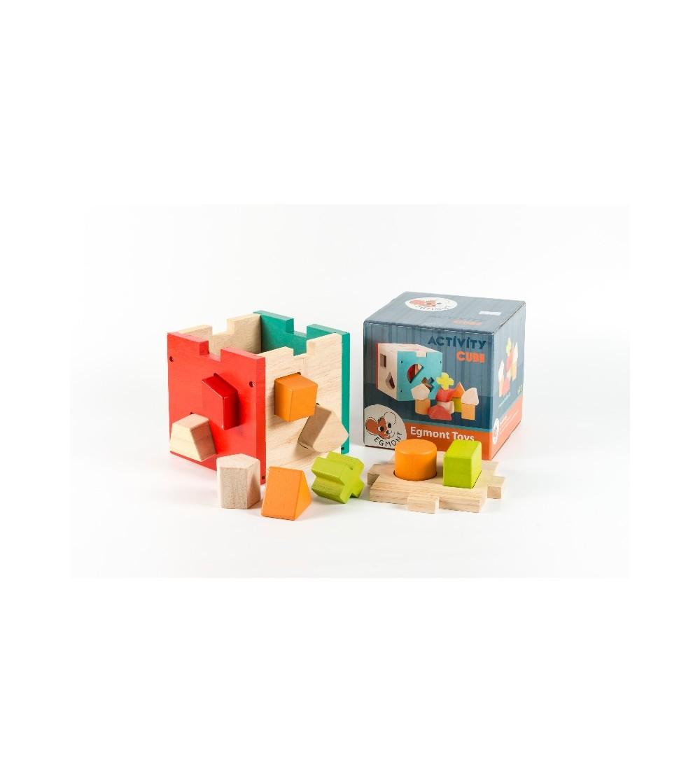 Cub cu forme si culori Egmont - Jucării de lemn si Montessori