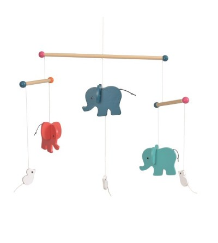 Elefanti, Decoratie mobil lemn, Egmont - Decorațiuni