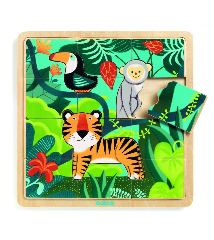 Puzzle lemn Jungla Djeco - Puzzle-uri