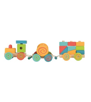 Trenulet cu cuburi Egmont - Vehicule de jucărie