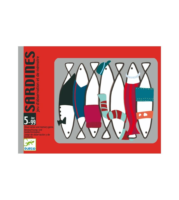 Joc cu carti Djeco Sardine - Jocuri de memorie și asociere