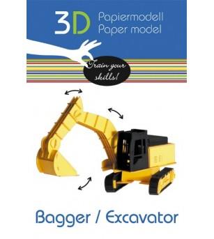 Excavator, macheta 3D Fridolin - Vehicule de jucărie