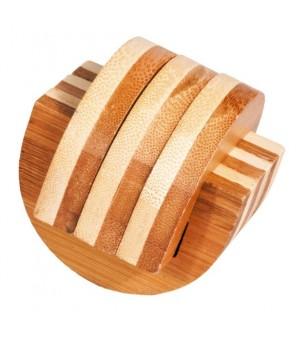 Joc logic IQ din lemn bambus Cleme - Jucării logică