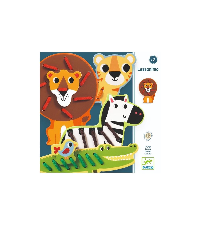Joc cu siret Djeco, Lassanimo - Jucării de lemn si Montessori