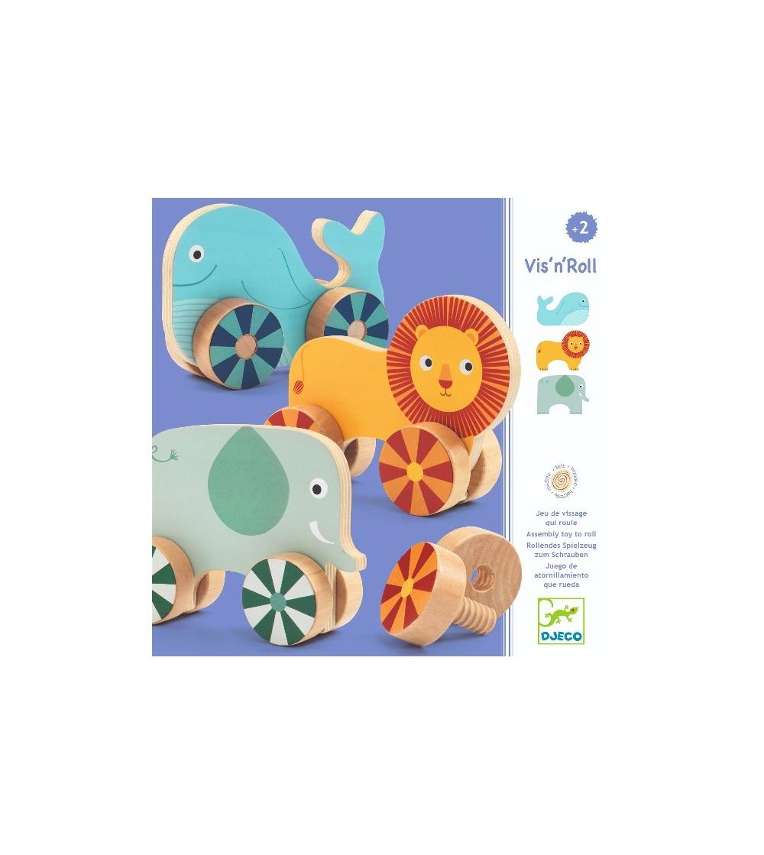 Animale cu surub, Vis-n-roll Djeco - Jucării de lemn si Montessori