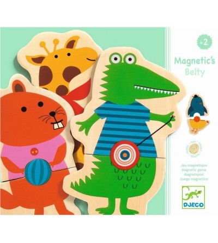 Joc cu magneti Djeco Animale cu buline - Jucarii magnetice