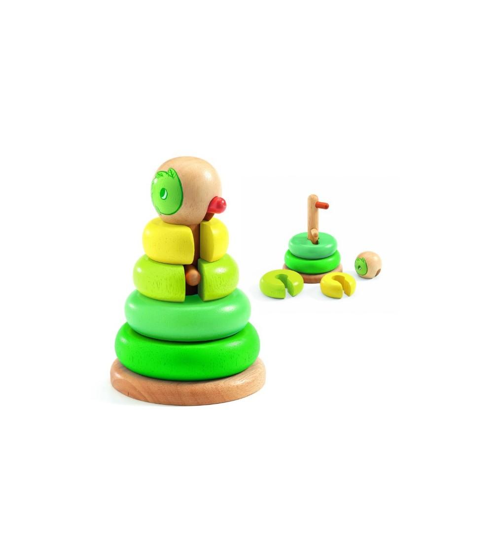 Piramida Montessori Tournitwist Djeco - Jucării de lemn si Montessori