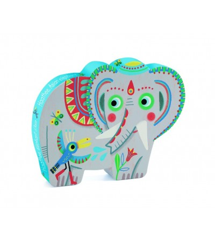 Puzzle Djeco Elefantul asiatic - Puzzle-uri