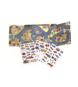 Orașul cu mașini, set magnetic