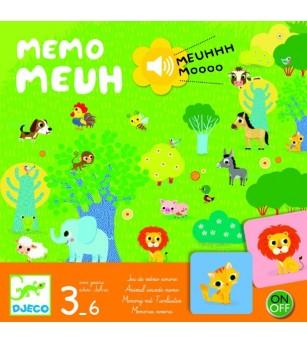 Joc Djeco cu sunete Memo Meuh - Jocuri de memorie și asociere