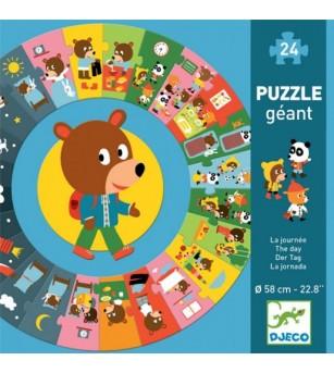 Puzzle cicular Djeco, ziua - Puzzle-uri