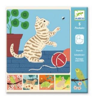Sabloane Djeco Animale de companie - Desen și pictură