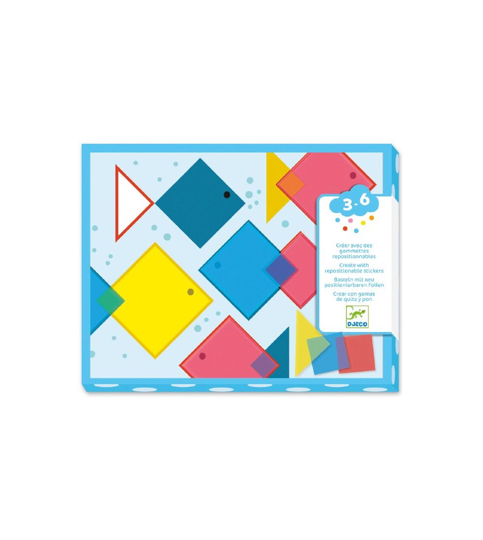 Stickere repozitionabile, patrate magice Djeco - Lucru manual