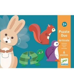 Puzzle duo mobil animale Djeco - Puzzle-uri
