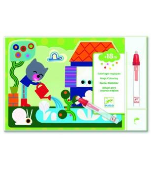 Set Djeco pictura cu apa, in gradina - Desen și pictură