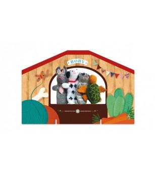 Papusi tricotate pentru Teatru cu papusi, Animale Londji - Marionete