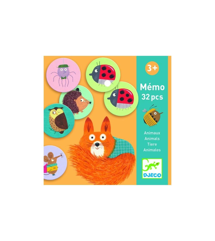 Memo Djeco, Animale - Jocuri de memorie și asociere