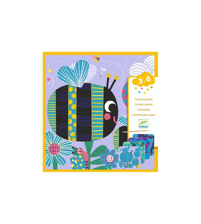 Set creativ de razuit Djeco, Insecte prietenoase - Lucru manual