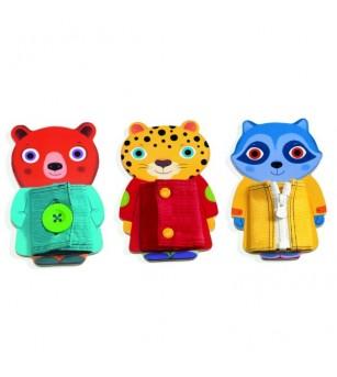 Sisteme de Inchidere Djeco, Haine colorate - Jucării de lemn si Montessori
