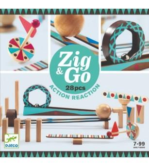 ZigGo Djeco, set de constructie trasee, 28 piese - Jocuri construcție