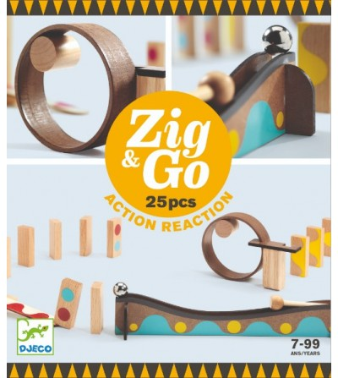 Zig & Go Djeco, set de constructie trasee, 25 piese - Jocuri construcție