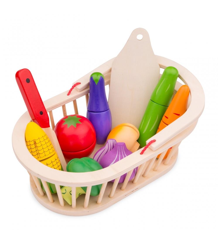 Cos cu legume - Jucării de lemn si Montessori
