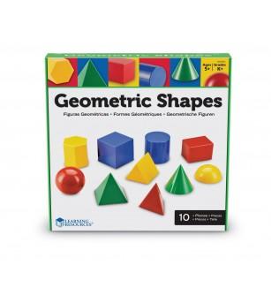 Corpuri geometrice din plastic - 10 piese - Jucării matematică